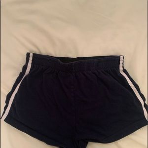 navy blue stripped brandy melville shorts